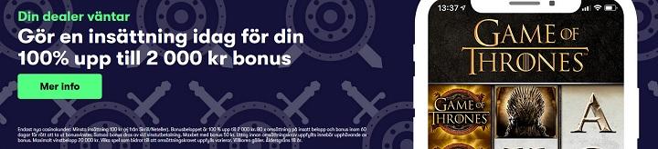 2000 kr casinobonus hos 10Bet