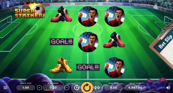 Super Striker - Ny spelautomat från NetEnt